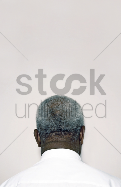back shot of a businessman stock photo