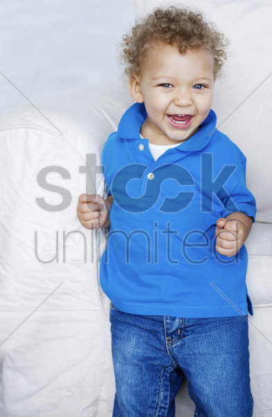 boy laughing stock photo