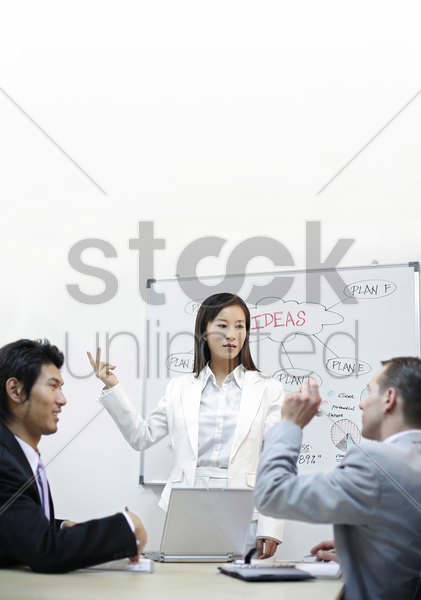 brainstorming session stock photo