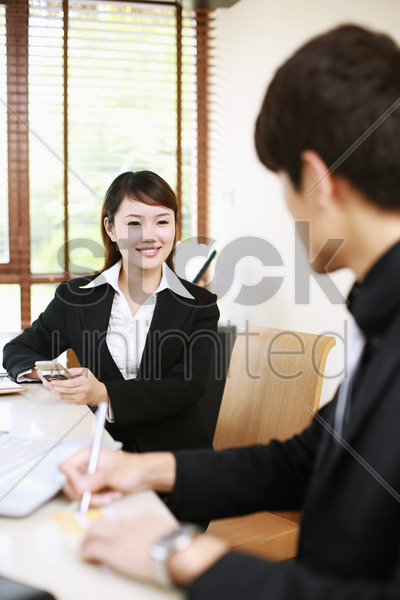 business people chatting stock photo
