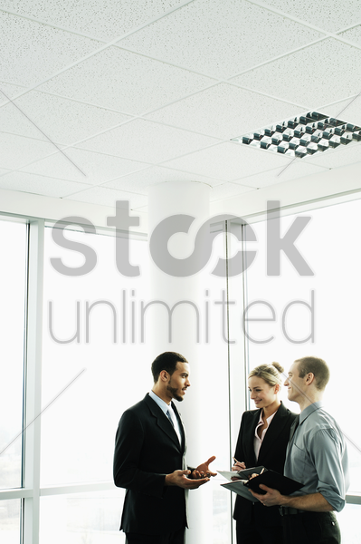business people having discussion stock photo