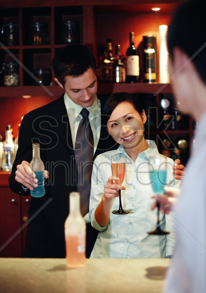 business people proposing a toast stock photo