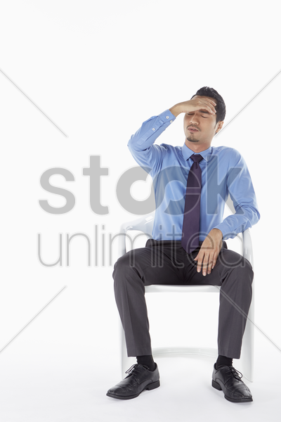 businessman feeling stressed stock photo