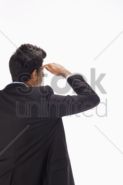 businessman looking forward stock photo