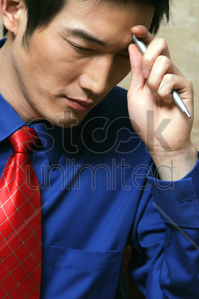 businessman planning strategy stock photo