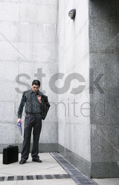 businessman posing for the camera stock photo