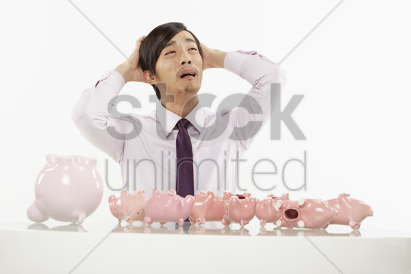 businessman with a sad expression stock photo