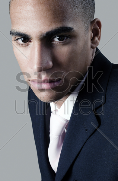 businessman with serious look stock photo