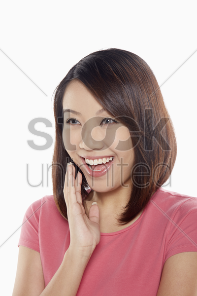 cheerful woman laughing stock photo