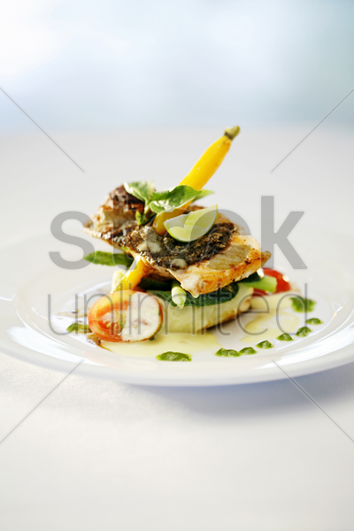 citrus salmon stock photo