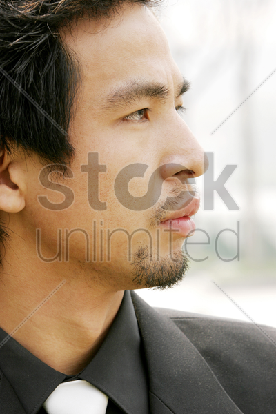 close-up of a man in business suit stock photo