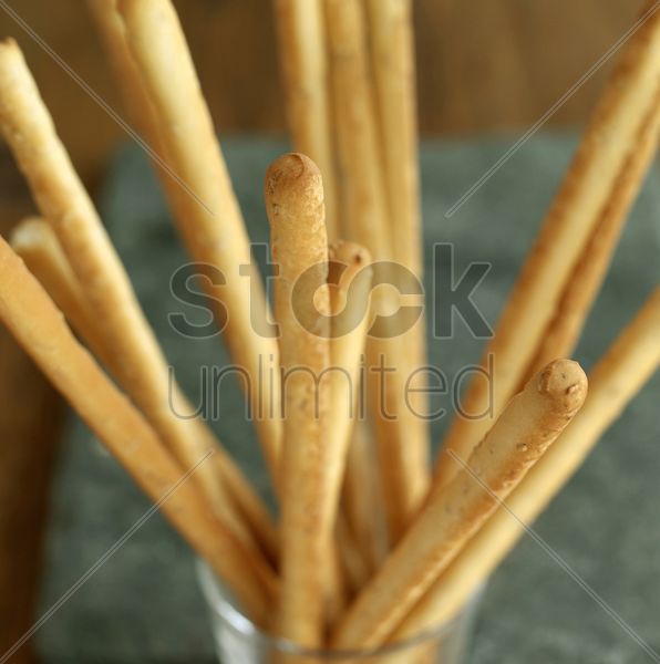 close up of some breadsticks stock photo