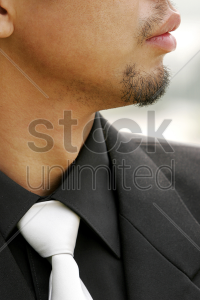 close-up picture of a man in business suit stock photo