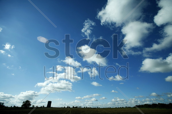 clouds on a beautiful afternoon stock photo