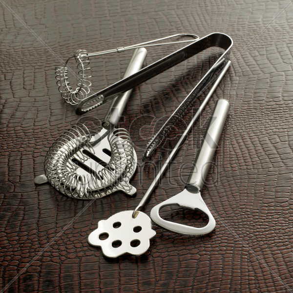 cocktail making tools (whisk stock photo