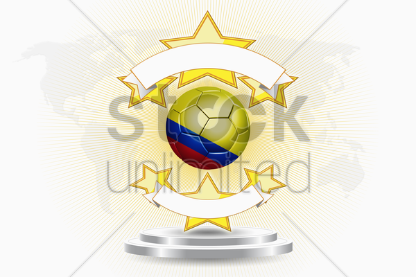 colombia soccer ball emblem stock photo