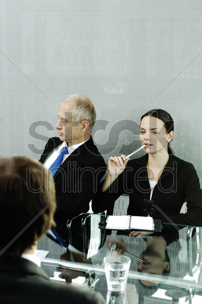 corporate people in the meeting room stock photo