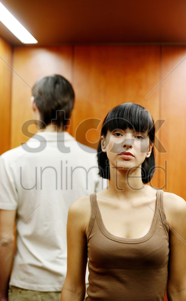 couple after an argument stock photo