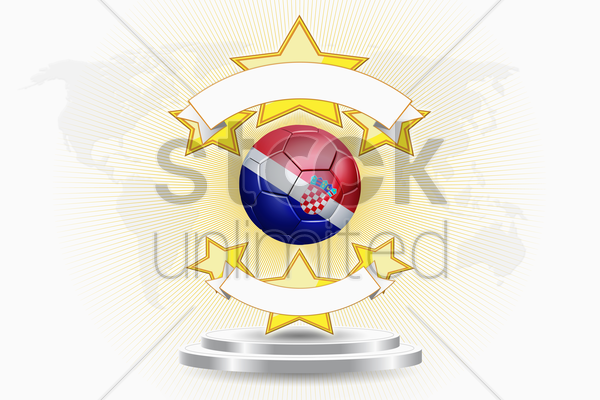 croatia soccer ball emblem stock photo