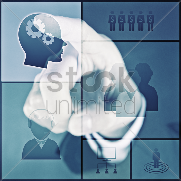 digital graphic human figurines stock photo