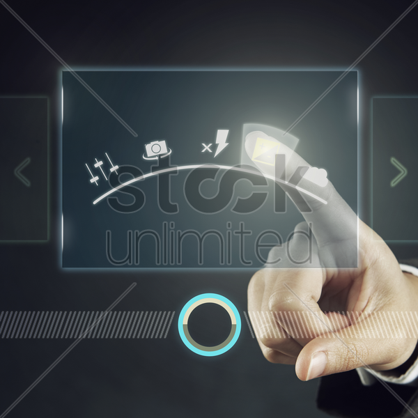 digital graphic of a camera setting stock photo