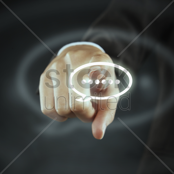 digital graphic of a chat icon stock photo