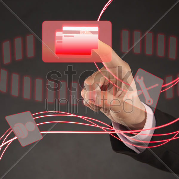 digital graphic of a credit card icon stock photo