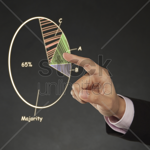 digital illustration of a pie chart stock photo