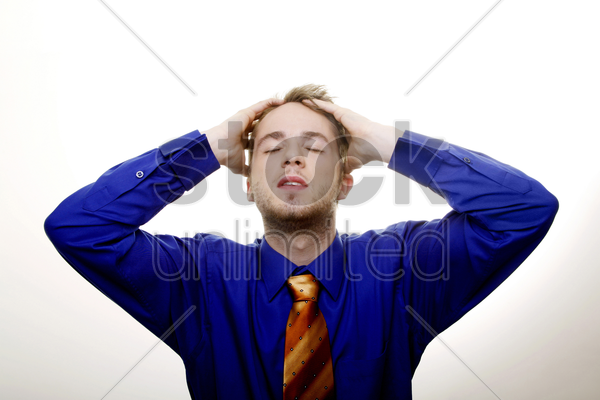 disappointed businessman stock photo