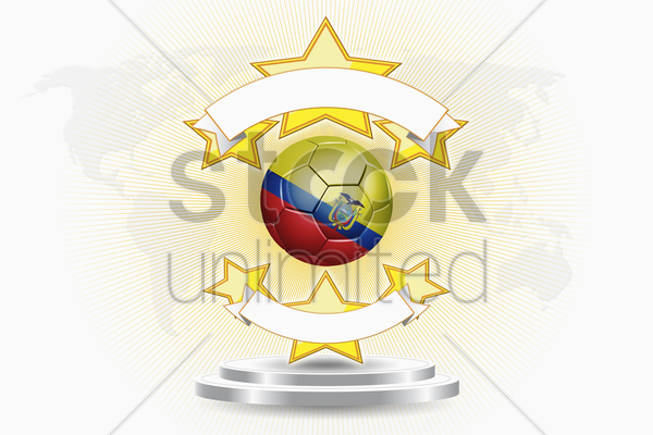 ecuador soccer ball emblem stock photo