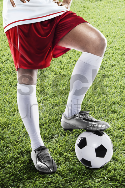 england soccer player ready for kick off stock photo