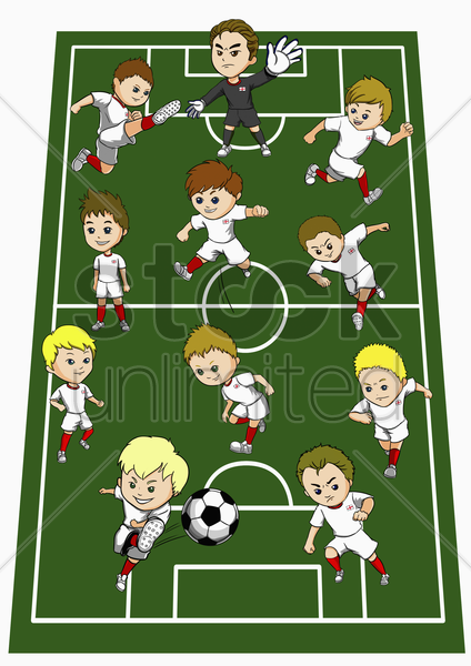 england team formation stock photo