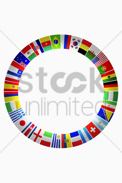 flags for representing countries stock photo