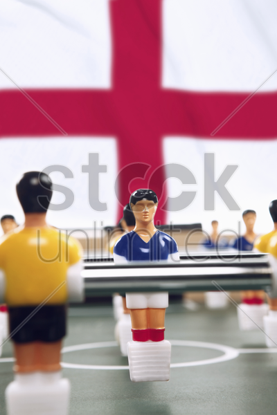 foosball figurines stock photo