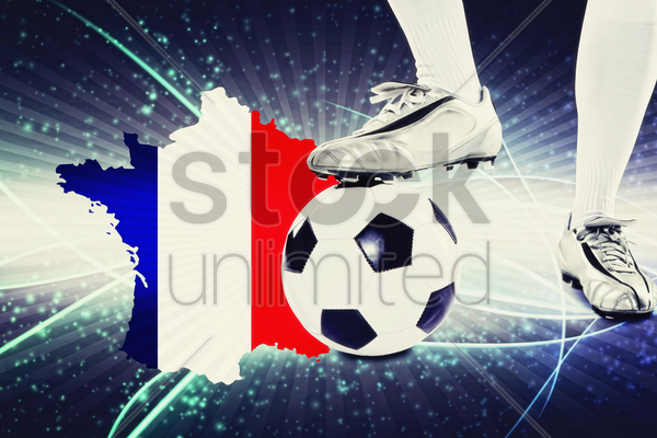 france soccer player ready for kick off stock photo