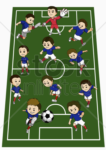 france team formation stock photo