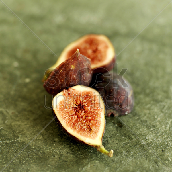 fresh figs on a slate stock photo