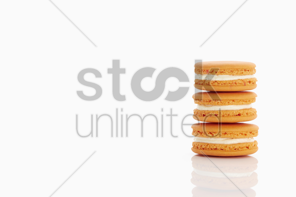 fresh tasty macaroons stock photo