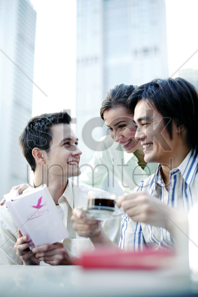 friends hanging out together stock photo