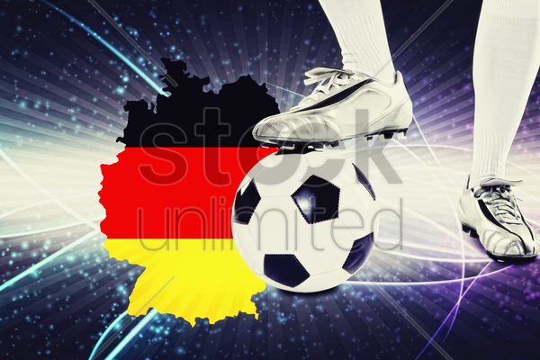 germany soccer player ready for kick off stock photo