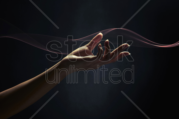 gesture of a human hand stock photo