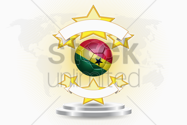 ghana soccer ball emblem stock photo