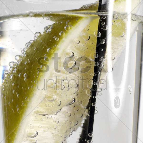 gin and tonic or vodka and tonic stock photo