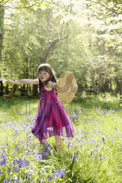 girl having fun outdoor stock photo