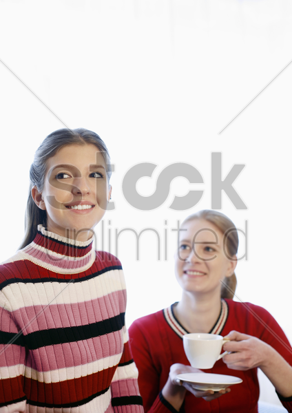 girl spending quality time with her parent stock photo