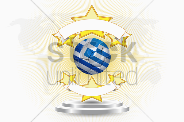 greece soccer ball emblem stock photo