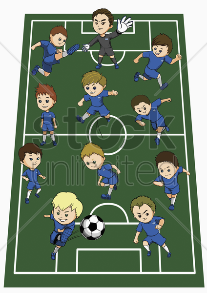 greece team formation stock photo