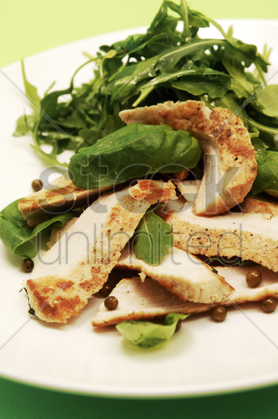 grilled chicken salad stock photo