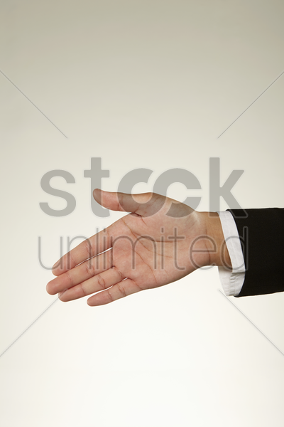 handshake gesture stock photo