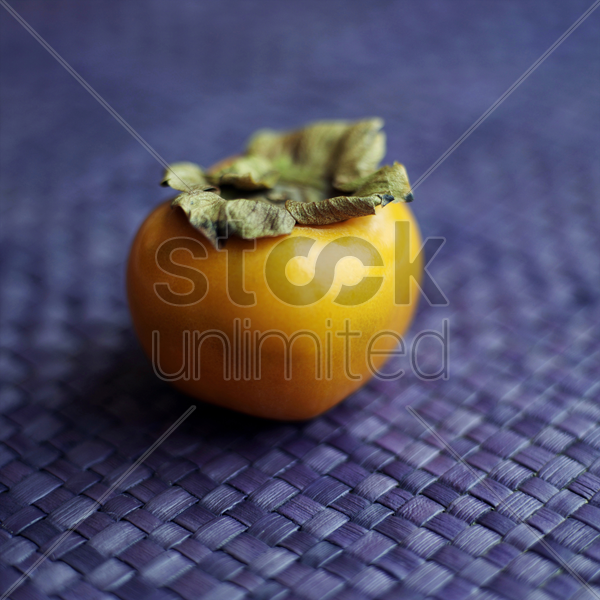 high angle close-up of persimmon stock photo